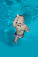 Baby underwater in Pool , diving Baby