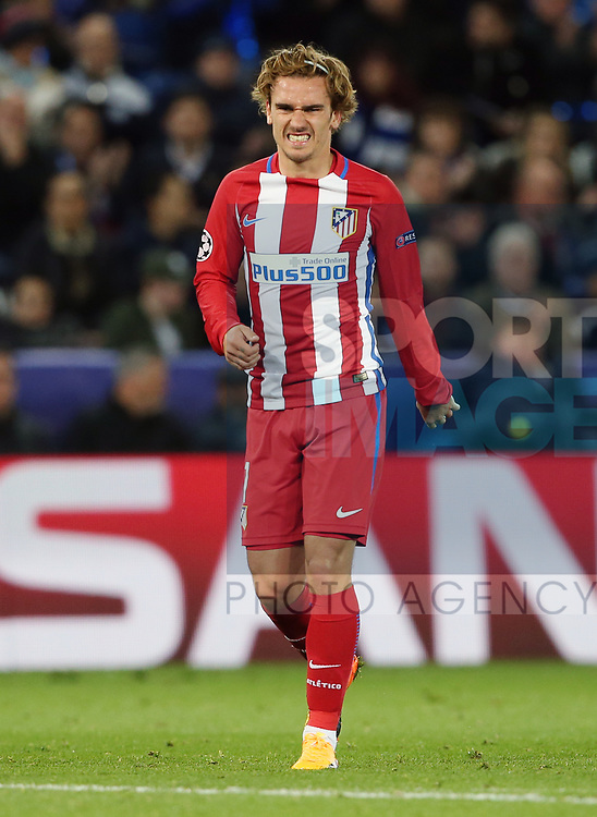 Atletico's Antoine Griezmann in action during the Champions League Quarter-Final 2nd leg match at the King Power Stadium, Leicester. Picture date: April 18th, 2017. Pic credit should read: David Klein/Sportimage