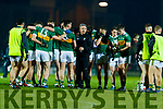 Kerry Manager Peter Keane with Kerry players before the Allianz Football League Division 1 Round 3 match between Kerry and Dublin at Austin Stack Park in Tralee, Kerry on Saturday night.
