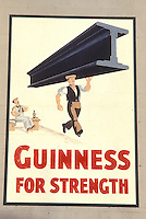 AJ0998, Europe, Republic of Ireland, Ireland, beer, Guinness (beer) For Strength Mural, pub sign.