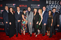 "LOS ANGELES, CA. October 22, 2018: Campbell Scott, Diane Lane, Greg Kinnear, Constance Zimmer, Michael Kelly, Robin Wright, Patricia Clarkson, Boris McGiver, Nini Le Huynh & Derek Cecil at the season 6 premiere for ""House of Cards"" at the Directors Guild Theatre.<br /> Picture: Paul Smith/Featureflash"