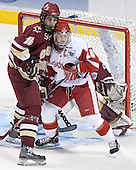 Brian Boyle, Adam Burish - The University of Wisconsin Badgers defeated the Boston College Eagles 2-1 on Saturday, April 8, 2006, at the Bradley Center in Milwaukee, Wisconsin in the 2006 Frozen Four Final to take the national Title.