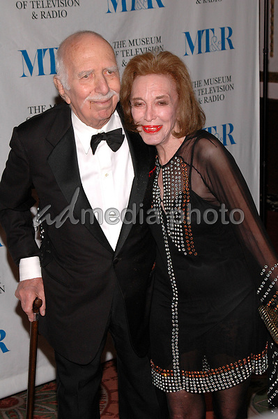 26 May 2005 - New York, New York - Helen Gurley Brown and her husband David arrive at The Museum of Television and Radio's Annual Gala where Merv Griffin is being honored for his award winning career in radio and television.<br />