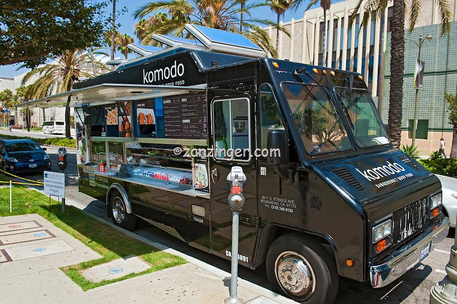Komodo, Gourmet Food Truck, Mid Wilshire, Los Angeles CA. Miracle Mile district.