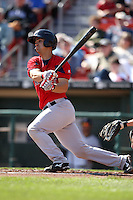 April 14, 2010:  Catcher Mark Wagner of the Pawtucket Red Sox at bat during a game at Coca-Cola Field in Buffalo, New York.  Pawtucket is the Triple-A International League affiliate of the Boston Red Sox.  Photo By Mike Janes/Four Seam Images