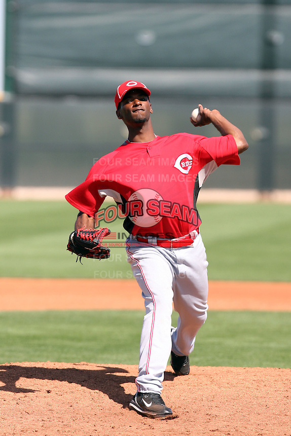Pedro Viola, Cincinnati Reds 2010 minor league spring training..Photo by:  Bill Mitchell/Four Seam Images.