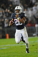 19 September 2015:  Penn State RB Saquon Barkley (26) rushed for 195 yards and 2 touchdowns. The Penn State Nittany Lions defeated the Rutgers Scarlett Knights 28-3 at Beaver Stadium in State College, PA.