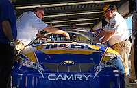Feb 14, 2007; Daytona, FL, USA; The car of Nascar Nextel Cup driver Michael Waltrip (55) goes through tech inspection during practice for the Daytona 500 at Daytona International Speedway. Mandatory Credit: Mark J. Rebilas.