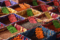 Assorted spices in market, Provence, France