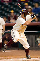 Arizona State first baseman Brett Wallace (23) at bat versus Texas A&M at the 2007 Houston College Classic at Minute Maid Park in Houston, TX, Friday, February 9, 2007.  Arizona State defeated Texas A&M 5-4.
