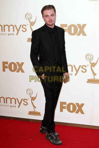 Michael Pitt.63rd Primetime Emmy Awards - Arrivals Held at The Nokia LA Live, Los Angeles, California, USA..September 18th, 2011.emmys full length black suit hand in pocket stubble facial hair .CAP/ADM/KB.©Kevan Brooks/AdMedia/Capital Pictures.