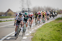 Peter SAGAN (SVN/BORA-Hansgrohe) controlling/checking out the leading group while approaching De Moeren<br /> <br /> 81st Gent-Wevelgem 'in Flanders Fields' 2019<br /> One day race (1.UWT) from Deinze to Wevelgem (BEL/251km)<br /> <br /> ©kramon