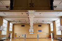 A gym is empty at the Fernald Developmental Center in Waltham, Massachusetts, USA.  Residents and members of the community have used the gym at times.