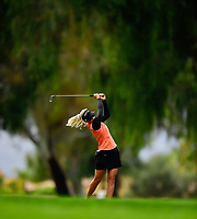 Pernilla Lindberg, of Sweden, plays her second shot from the fairway on the 9th hole, a par 5, during the third round of the ANA Inspiration at the Mission Hills Country Club in Palm Desert, California, USA. 3/31/18.<br /> <br /> Picture: Golffile | Bruce Sherwood<br /> <br /> <br /> All photo usage must carry mandatory copyright credit (&copy; Golffile | Bruce Sherwood)during the second round of the ANA Inspiration at the Mission Hills Country Club in Palm Desert, California, USA. 3/31/18.<br /> <br /> Picture: Golffile | Bruce Sherwood<br /> <br /> <br /> All photo usage must carry mandatory copyright credit (&copy; Golffile | Bruce Sherwood)
