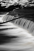 A ledge falls transverses the entire width of Prairie Creek just upstream from it's confluence with the Kankakee River in DesPlaines River Fish & Wildlife Area in Will County, Illinois