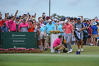 Jordan Spieth (USA) arrives at the first tee during round 4 of The Players Championship, TPC Sawgrass, at Ponte Vedra, Florida, USA. 5/13/2018.<br /> Picture: Golffile | Ken Murray<br /> <br /> <br /> All photo usage must carry mandatory copyright credit (&copy; Golffile | Ken Murray)