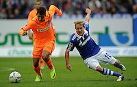 FUSSBALL   1. BUNDESLIGA   SAISON 2011/2012    11. SPIELTAG FC Schalke 04 - 1899 Hoffenheim                            29.10.2011 Roberto FIRMINO (li, Hoffenheim) gegen Lewsi HOLTBY (re, Schalke)