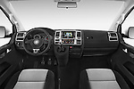 Stock photo of straight dashboard view of a 2014 Volkswagen CARAVELLE COMFORTLINE 4 Door Passenger Van Dashboard