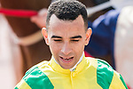 Jockey Joao Moreira riding Bravo Watchman reacts after the Race 2, Able Friend Handicap, during the Longines Hong Kong International Races at Sha Tin Racecourse on December 10 2017, in Hong Kong, Hong Kong. Photo by Victor Fraile / Power Sport Images