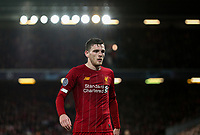 Liverpool's Andrew Robertson <br /> <br /> Photographer Alex Dodd/CameraSport<br /> <br /> UEFA Champions League Group E - Liverpool v Napoli - Wednesday 27th November 2019 - Anfield - Liverpool<br />  <br /> World Copyright © 2018 CameraSport. All rights reserved. 43 Linden Ave. Countesthorpe. Leicester. England. LE8 5PG - Tel: +44 (0) 116 277 4147 - admin@camerasport.com - www.camerasport.com