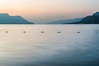 Sunrise at Lake Toba (Danau Toba), Tuk Tuk, North Sumatra, Indonesia