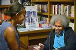 "CORAL GABLES, FL - MAY 17: Former ""Angola 3"" inmate Albert Woodfox sign copies of his book ""Solitary"" at Books & Books on May 17, 2019 in Coral Gables, Florida. ( Photo by Johnny Louis / jlnphotography.com )"