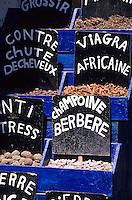 Afrique/Maghreb/Maroc/Essaouira : Dans le souk - Etal pharmacopée berbère