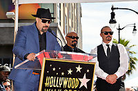 LOS ANGELES, CA. April 18, 2019: Cypress Hill, B Real, Sen Dog &amp; DJ Muggs at the Hollywood Walk of Fame Star Ceremony honoring hip-hop group Cypress Hill.<br /> Pictures: Paul Smith/Featureflash
