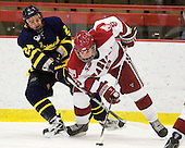 Stephane Da Costa (Merrimack - 24), Danny Biega (Harvard - 9) - The visiting Merrimack College Warriors defeated the Harvard University Crimson 3-1 (EN) at Bright Hockey Center on Tuesday, November 30, 2010.
