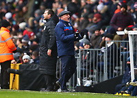 17th March 2018, Craven Cottage, London, England; EFL Championship football, Fulham versus Queens Park Rangers; Queens Park Rangers manager Ian Holloway celebrates on the touchline after Pawel Wszolek of Queens Park Rangers scores his sides 2nd goal in the 80th minute to make it 2-2
