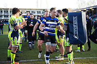 James Wilson of Bath Rugby after the match. Aviva Premiership match, between Bath Rugby and Sale Sharks on February 24, 2018 at the Recreation Ground in Bath, England. Photo by: Patrick Khachfe / Onside Images