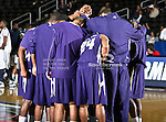 The Prairie View A & M Panthers get ready for action during the SWAC Tournament game between the Prairie View A & M Panthers and the Jackson State Tigers at the Special Events Center in Garland, Texas. Jackson State defeats Prairie View A & M 50 to 38.