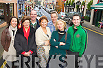 Business owners Tracey Wade, White Room< Marie O'Sullivan, O'Sullivan Ford, Kit Dunlop, Soundz of Muzic, Rebecca O'Sullivan, Simplicity Boutique, Andy Hill, Truffle Pig, Isobel O'Sullivan, Hallisseys and Brian Finnegan, Finnegans, pictured on Henry Street, Kenmare. ..