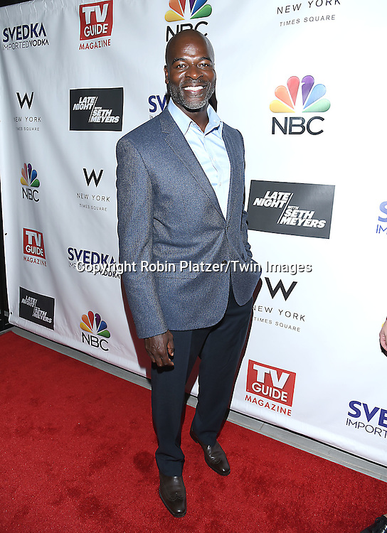 Hisham Tawfiq of The Black List attends the&quot;TV Guide Magazine&quot; Party for Cover Star Seth Meyers on June 14, 2016 at the W New York Hotel in New York City, New York, USA.<br /> <br /> photo by Robin Platzer/Twin Images<br />  <br /> phone number 212-935-0770