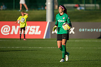 Kansas City, MO - Saturday May 27, 2017: Stephanie Labbé during a regular season National Women's Soccer League (NWSL) match between FC Kansas City and the Washington Spirit at Children's Mercy Victory Field.