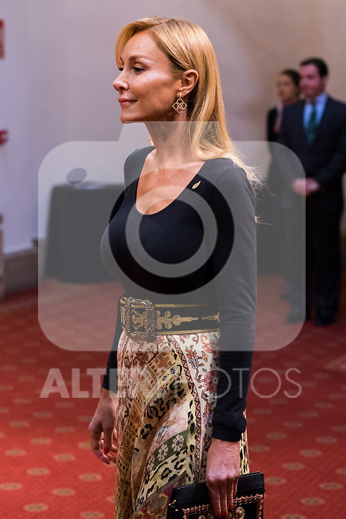 Esther Alcocer Koplowitz attends an audience with King Felipe VI, Queen Letizia, Princess of Asturias Leonor and Infant Sofia in Oviedo because of Princess of Asturias Awards 2019. October 18, 2019 (Alterphotos/ Francis Gonzalez)