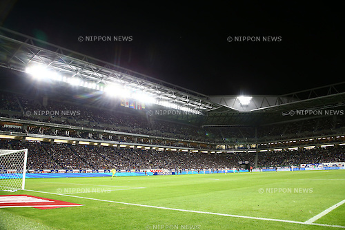 Suita City Football Stadium,<br /> JUNE 7, 2016 - Football / Soccer :<br /> A general view inside of Suita City Football Stadium during the Kirin Cup Soccer 2016 Final match between Japan 1-2 Bosnia and Herzegovina in Osaka, Japan. (Photo by Kenzaburo Matsuoka/AFLO)