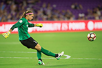 Orlando, FL - Tuesday August 08, 2017: Stephanie Labbé during a regular season National Women's Soccer League (NWSL) match between the Orlando Pride and the Chicago Red Stars at Orlando City Stadium.