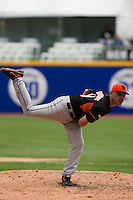 7 March 2009: #19 Rob Cordemans of the Netherlands pitches against the Dominican Republic during the 2009 World Baseball Classic Pool D match at Hiram Bithorn Stadium in San Juan, Puerto Rico. Netherlands pulled off a huge upset in their World Baseball Classic opener with a 3-2 victory over Dominican Republic.