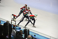 SHORT TRACK: TORINO: 15-01-2017, Palavela, ISU European Short Track Speed Skating Championships, Final Relay Ladies, Team Hungary, Team Italy, ©photo Martin de Jong