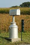 Old milk jug mailbox.