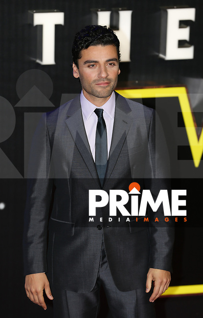 Oscar Isaac attends the STAR WARS: 'The Force Awakens' EUROPEAN PREMIERE at Odeon, Empire & Vue Cinemas, Leicester Square, England on 16 December 2015. Photo by David Horn / PRiME Media Images
