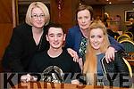 L-R Tracy Lyne, Wayne O'Donoghue, Una O'Leary and Alanna Lyne all from Killarney at the Cardiac Response Unit table quiz in the Plaza Hotel, Killarney last Friday night.