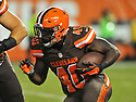 CLEVELAND, OH - SEPTEMBER 1, 2016: Fullback Jahwan Edwards #40 of the Cleveland Browns carries the ball in the third quarter of a game on September 1, 2016 against the Chicago Bears at FirstEnergy Stadium in Cleveland, Ohio. Chicago won 21-7. (Photo by: 2016 Nick Cammett/Diamond Images)  *** Local Caption *** Jahwan Edwards