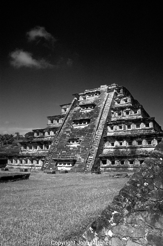 The Pyramid of the Niches at the Totonac ruins of El Tajin, Veracruz, Mexico