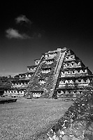 The Pyramid of the Niches at the Totonac ruins of El Tajin, Veracruz, Mexico