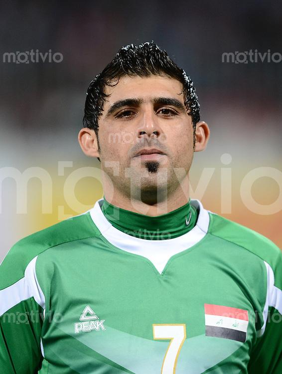 Fussball International Gulf Cup 2013 in Bahrain    Halbfinale     15.01.2013 Irak - Bahrain         Hammadi Ahmed Abdullah (Irak)