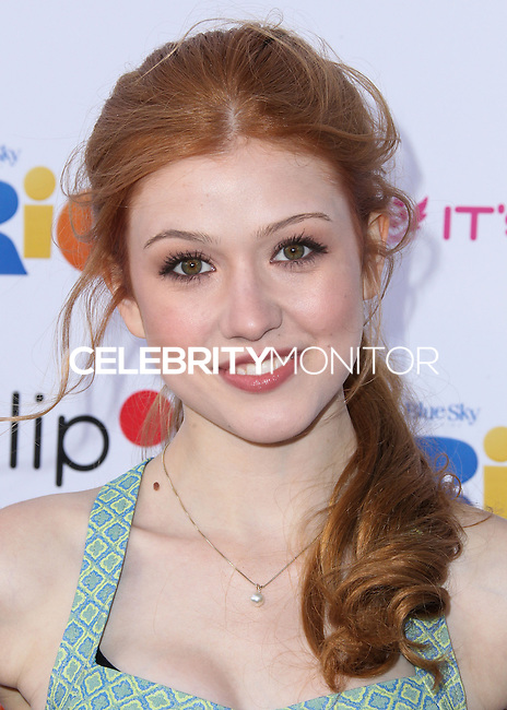 "BURBANK, CA, USA - APRIL 26: Katherine McNamara at the Lollipop Theater Network's Night Under The Stars Screening Of Twentieth Century Fox's ""Rio 2"" Hosted by Anne Hathaway held at Nickelodeon Animation Studios on April 26, 2014 in Burbank, California, United States. (Photo by Xavier Collin/Celebrity Monitor)"