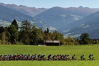 Picture by Richard Blaxall/SWpix.com - 28/09/2018 - Cycling 2018 Road Cycling World Championships Innsbruck-Tirol, Austria - Men's U23 Road Race - A view of the Peloton.