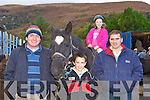 3931-3937.Bernie Casey Black Valley shows his horse to Darragh, Shona and Jamie Chawke at the Horse Fair in Gap of Dunloe on Sunday.